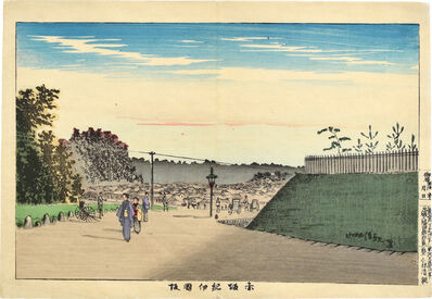 Kobayashi Kiyochika 小林清親, 'Kinokuni Slope in Akasaka', ca. 1880