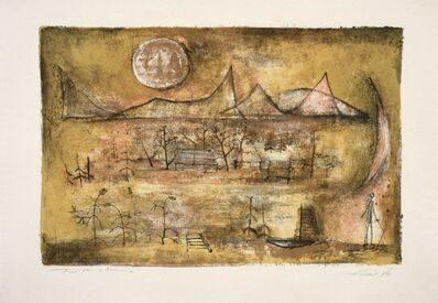 Zao Wou-Ki 趙無極, 'Mountains and sun', 1951