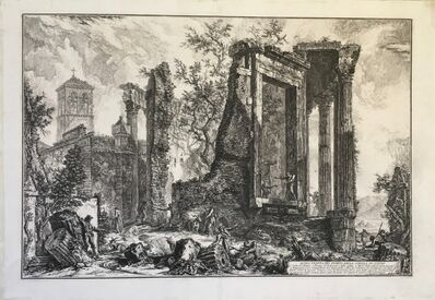 Giovanni Battista Piranesi, 'Temple of the Sibyl at Tivoli: The broken side of the Colonnade', 1761