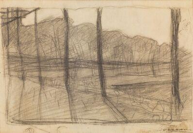 Umberto Boccioni, 'Studio per Campagna Lombarda', 1908