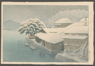 Kawase Hasui, 'Evening Snow at Ishinomaki', 1935