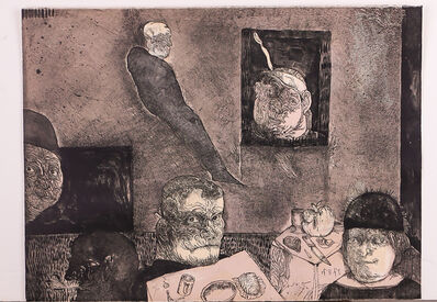 Jose Luis Cuevas, 'Poet in the Dining Room', 1972