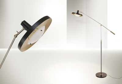 Gino Sarfatti, 'a mod. 1003 table lamp with a marble base and brass structure', 1946