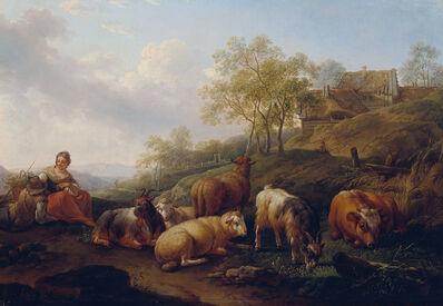 Joseph Roos der Ältere, 'Landscape with grazing cattle', 1766