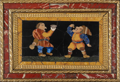 Florence, 'Three Commesso Panels with Dwarves, Florence, ca. 1660  Smallest ', ca. 1660