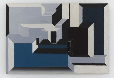 Suzanne Blank Redstone, 'Blue and Maroon Portal', 1969