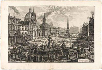Giovanni Battista Piranesi, 'VEDUTA DI PIAZZA NAVONA SOPRA LE ROVINE DEL CIRCO AGONALE (H. 108)', 1773