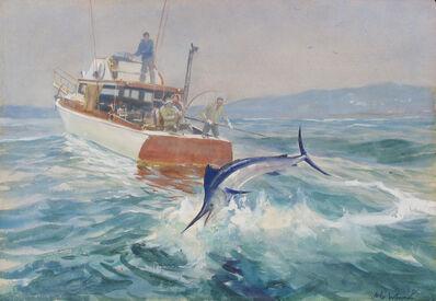 John Whorf, 'Landing Marlin', ca. 1957