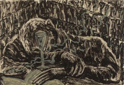 Miquel Barceló, 'Jeune homme ivre dans un bar', 1983