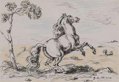 Giorgio de Chirico, 'CAVALLO IN LIBERTÀ (CIRANNA 130)', 1964