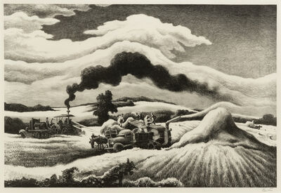 Thomas Hart Benton, 'Threshing', 1941