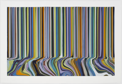 Ian Davenport, 'Colourcade Buzz: Triple Repeat Green', 2018