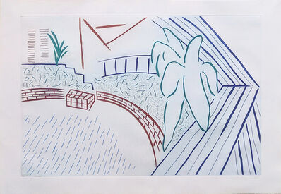 David Hockney, 'MY POOL AND TERRACE', 1983