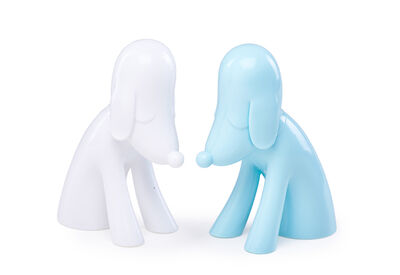 Yoshitomo Nara, 'Aomori Dog (Blue) and Aomori Dog (White)', 2016