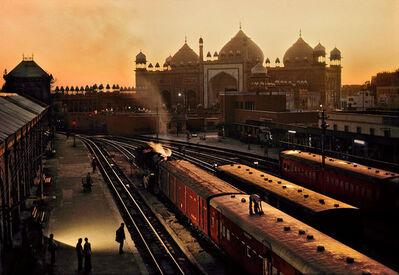 Steve McCurry, 'Train Station, Agra, India, 1983', 1983