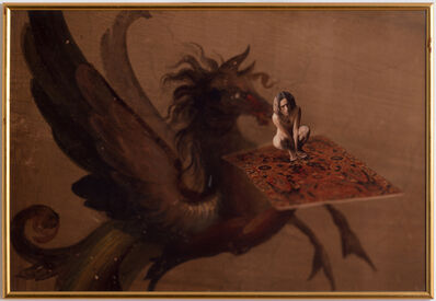 Luigi Ontani, 'Tappeto volante Aureo ', 1975