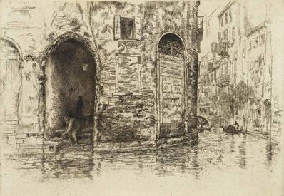 James Abbott McNeill Whistler, 'The Two Doorways, from First Venice Set', 1879