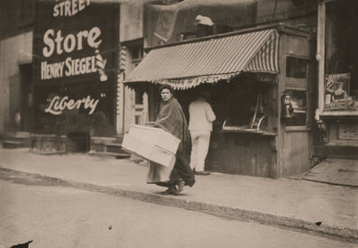 Lewis Wickes Hine, 'A Mother Carrying Flowers Home, New York City, New York', 1912