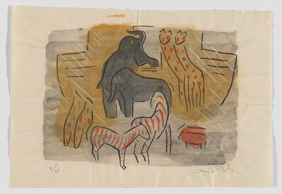 David Park, 'Animals Entering the Ark, from the Genesis series', ca. 1934