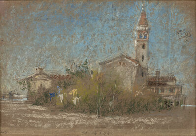 James Abbott McNeill Whistler, 'Campanile at Lido', 1879