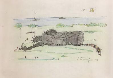 Marta Minujín, 'La Estatua de la Libertad Acostada', 1979