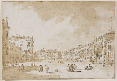 Francesco Guardi, 'View of Campo S. Polo', 1790