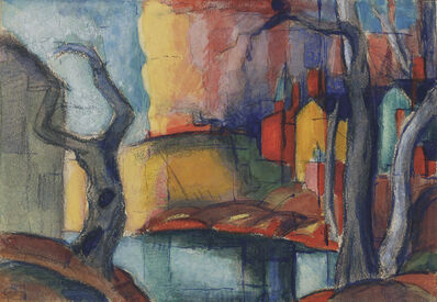 Oscar Bluemner, 'Scandal in the Village', 1919