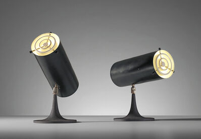 Gino Sarfatti, 'Pair of rare adjustable table lamps, model no. 569/N', circa 1956