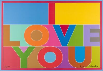 Peter Blake, 'I Love You', 2013