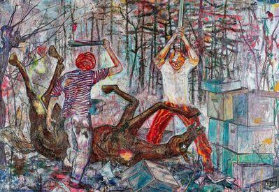 """Daniel Richter, '""""Das Recht""""', 2001"""
