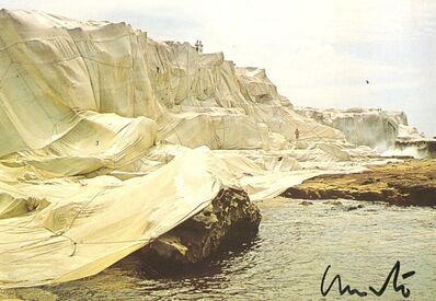 Christo, 'Wrapped Coast, Little Bay, Australia, 1969 (Hand Signed)', 1985