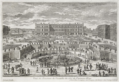 Adam Perelle, 'Veue du chasteau de Versailles (View of Versailles, garden facade)', ca. 1680