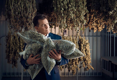 Lauren Hurt, 'Charlie Sheen With Bags of Weed ', 2019