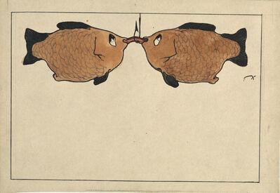 Paul Klee, 'Sans Titre (Deux poissons, un hameçon, un ver)', 1901