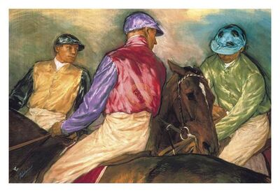 Jay Kirkman, 'Jockeys before the Start', 21st Century