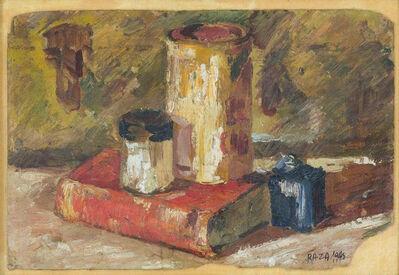 S. H. Raza, 'Still Life; Oil by Master Padma-shree, Padma-Bhushan Indian Artist SH Raza ', 1948