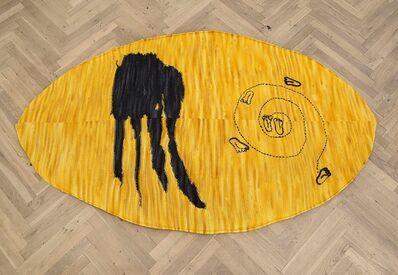 Jennifer Tee, 'CRYSTALLINE FLOORPIECE / OVAL / YELLOW', 2012