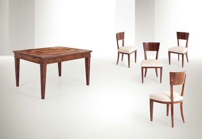Gio Ponti, 'a table and four chairs', 1930 ca.
