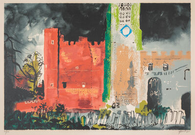 John Piper, 'Buckden in a Storm, 1977, and Eye and Camera: Yellow and Green, 1967'