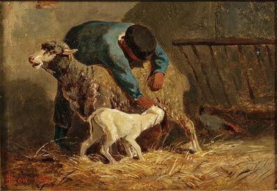 John Gardner Low, 'Herder with Ewe and Lamb'