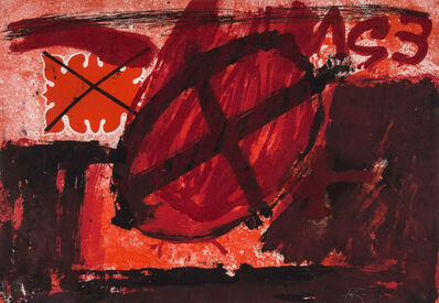 Antoni Tàpies, 'Cercle rouge (G. 596)', 1976
