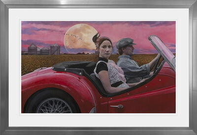 Andrea Kowch, 'Chasing the Moon - Limited Edition Hand Signed Print'