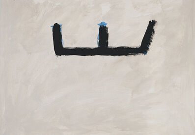 Robert Motherwell, '[Brushy Open on Buff Ground]', ca. 1983