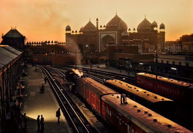 Steve McCurry, 'TRAIN STATION, AGRA, INDIA, 1983', 1983