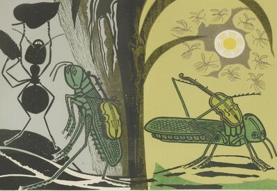 Edward Bawden, ''AESOP'S FABLES: THE ANT AND GRASSHOPPER''