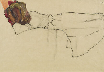 Egon Schiele, 'Reclining Woman', 1910