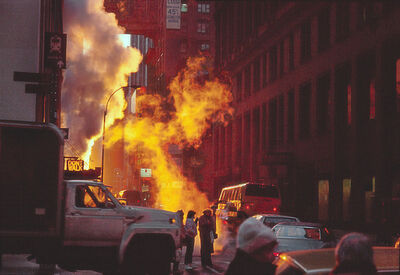 Frank Horvat, 'New York, Midtown, near Pennsylvania station, steam in the morning sun', 1984