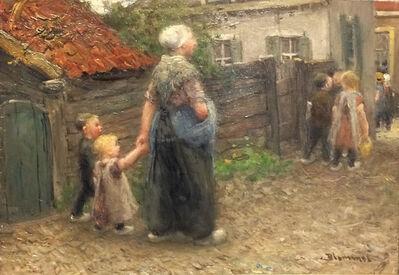 Bernardus Johannes Blommers, 'A Walk into Town'