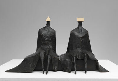 Lynn Chadwick, 'Sitting Figures in Robes I', 1980