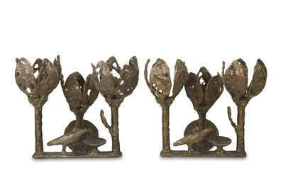 Diego Giacometti, 'Pair of wall sconces'